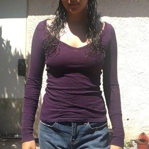 Purple long sleeve.